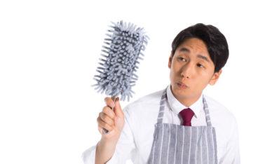 掃除をしている人